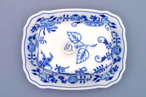 Cibulák maselnička hranatá malá 125 g cibulový porcelán, originálny cibulák Dubí 1. akosť