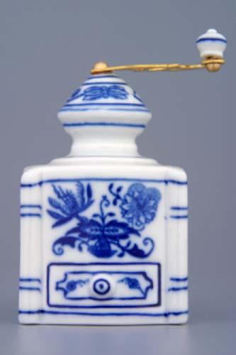 Cibulák kávomlynček mini cibulový porcelán, originálny cibulák Dubí 1. akosť