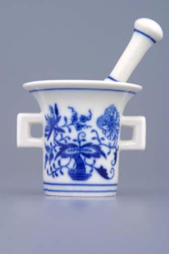 Cibulák mažiar mini komplet, cibulový porcelán, originálny cibulák Dubí, 1. akosť