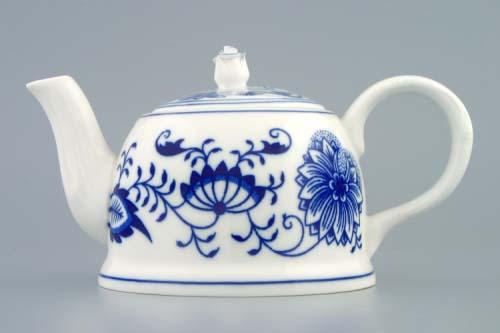 Cibulák kanvica čajová M s viečkom 0,35 l cibulový porcelán, originálny cibulák Dubí 1. akosť