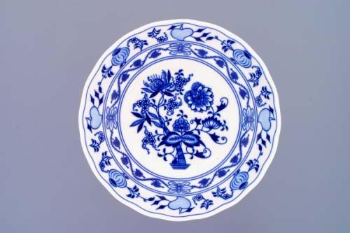 Cibulák misa kompótová, obojstranná na nízkej nôžke 24 cm cibulový porcelán, originálny cibulák Dubí 1. akosť