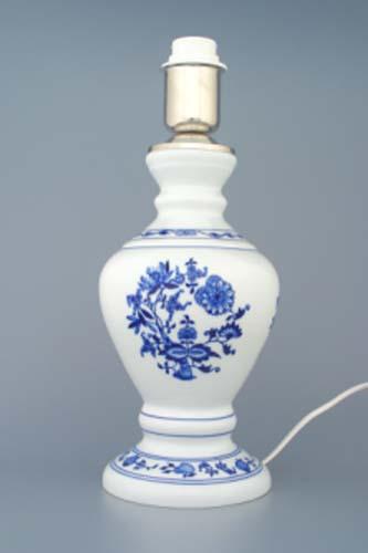 Cibulák 1972 lampa s tienidlom hladkým 42 cm cibulový porcelán, originálny cibulák Dubí 1. akosť