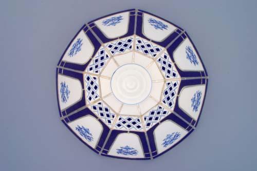 Cubulák tienidlo vitráž mriežkované zvonček / deväť stien cibulový porcelán, originálny cibulák Dubí 1. akosť
