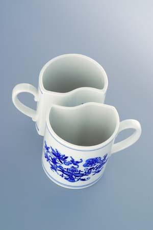 Cibulák súprava hrnčekov Duo Pravý M 2 x 0,24 l cibuľový porcelán, originálny cibuľák Dubí 1. akosť