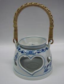 Cibulák Aróma lampička 11,9 cm cibulový porcelán, originálny cibulák Dubí,