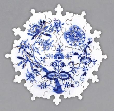 Cibulák Puzzle cibulový porcelán, originálny cibulák Dubí 1. akosť