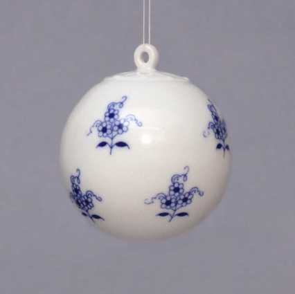 Cibulák vianočná ozdoba - gulička 5,8 cm cibulový porcelán, originálny cibulák Dubí 1. akosť
