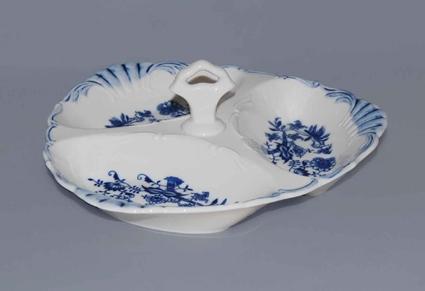 Cibulák kabaret trojdielny Aida 26 cm cibulový porcelán originálny cibulák Dubí