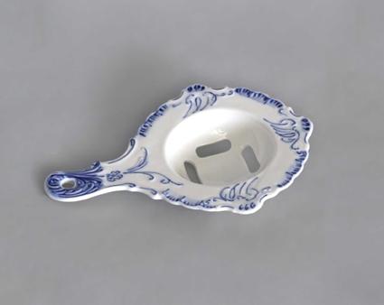 Cibulák oddeľovač bielka 17 x 12 cm cibulový porcelán, originálny cibulák Dubí 1. akosť