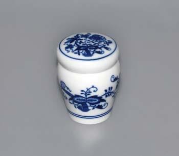 Cibulák dózička s tesnením a uzáverom (bajonet) 0,10 l cibulový porcelán, originálny cibulák Dubí, 1. akosť