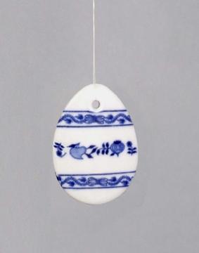 Cibulák veľkonočná ozdoba vajíčko, záves ,5 x 4 x 0,7 cm cibulový porcelán, originálny porcelán Dubí, 1. akosť
