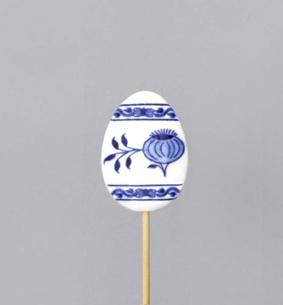 Cibulák veľkonočná ozdoba - vajíčko - zápich 5,5 x 4 x 0,7 cm cibulový porcelán, originálny cibulák Dubí 1. akosť