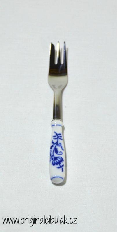 Cibulák Vidlička na múčnik / balenie 1 ks kartón - originálny cibulák, porcelánová časť-Český porcelán as Dubí, kovová časť - Toner as cibulový porcelán, originálny cibulák Dubí 1. akosť