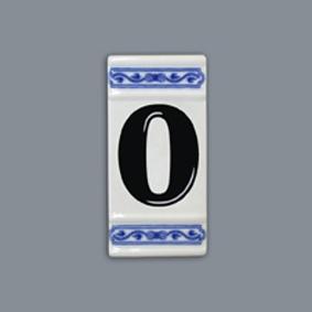 Cibulák Číslo na dom 11 x 5,5 cm cibulový porcelán, originálny cibulák Dubí, 1. akosť