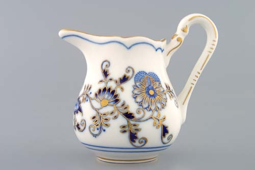 Cibuláková mliekovka vysoká - originál cibulák pozlátený cibulový porcelán, originálny cibulák Dubí 1. akosť