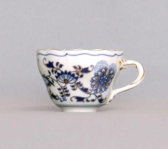 Cibuláková šálka vysoká A / 1 - originálny cibulák pozlátený cibulový porcelán, originálny cibulák Dubí 1. akosť