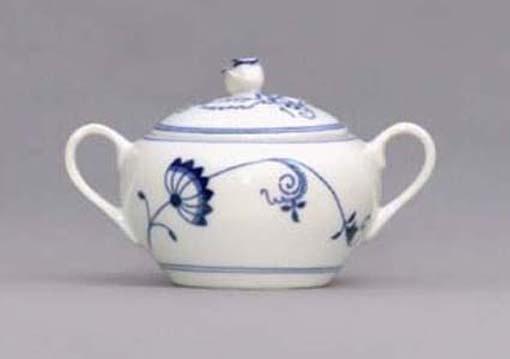 Cibuláková cukornička s uškami bez výrezu, ECO cibulák 0,30 l, cibulový porcelán, originálny cibulák Dubí, 1. akosť