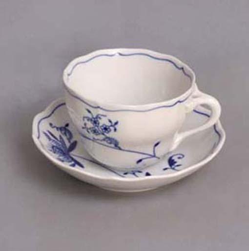 Cibuláková šálka a podšálka B + B - ECO cibulák 0,20 l cibulový porcelán, originálny cibulák Dubí 1. akosť