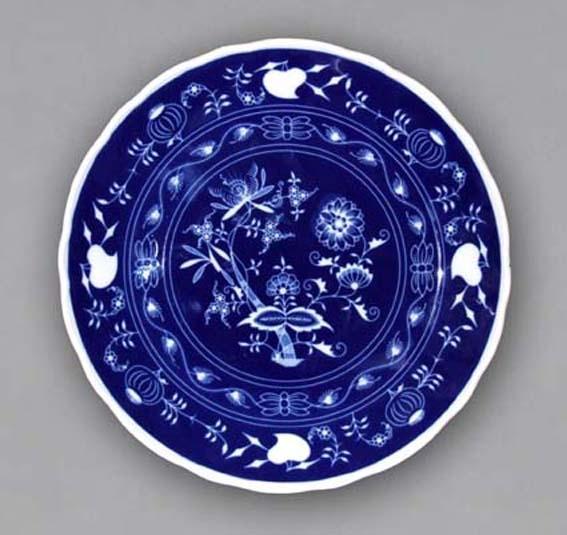 Cibulákový tanier klubový - NEGA cibulák cibulový porcelán, originálny cibulák Dubí 1. akosť