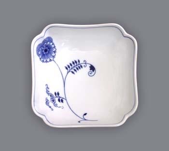 Cibuláková misa šalátová štvorhranná vysoká - ECO cibulák 15 cm cibulový porcelán, originálny cibulák Dubí 1. akosť
