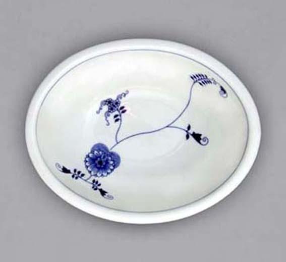 Cibuláková misa zapekacia, oválna, stredná - ECO cibulák 21,5 x 18,5 x 7,5 cm cibulový porcelán, originálny cibulák Dubí 1. akosť