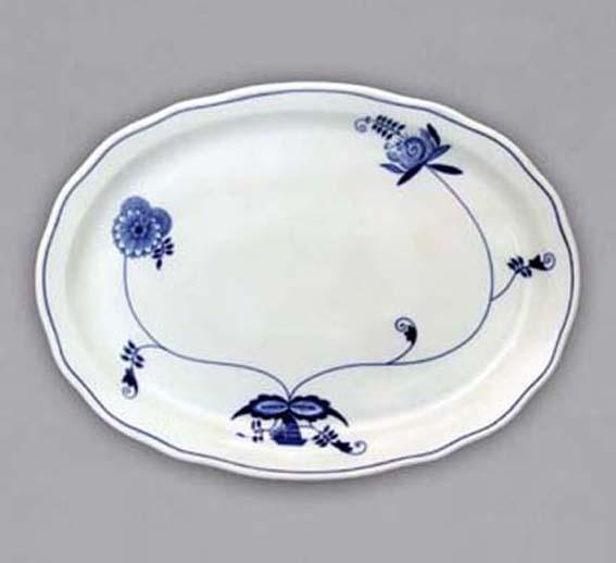 Cibulákový tanier oválny - ECO cibulák 8 cm cibulový porcelán, originálny cibulák Dubí 1. akosť