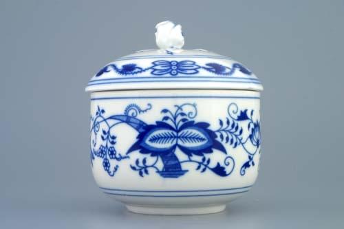 Cibulák cukornička s viečkom bez výrezu 0,20 l cibulový porcelán originálny cibulák Dubí 2. akosť