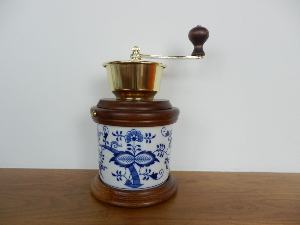 Cibulák mlynček na kávu Varák 24 cm cibulový porcelán, originálny cibulák Dubí 1. akosť