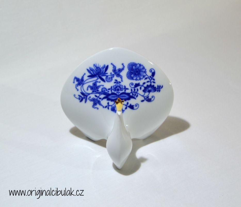 Cibulák páv 11,8 cm cibuľový porcelán, originálny cibuľák Dubí 1. akosť
