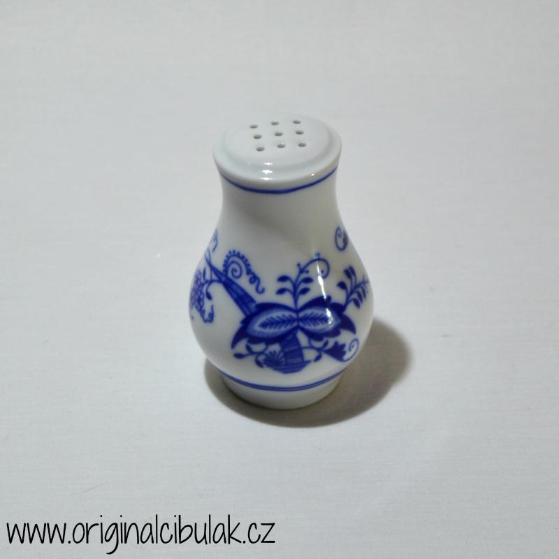 Cibulak soľnička bez nápisu 7 cm cibulový porcelán, originálny cibulák Dubí 2. akosť