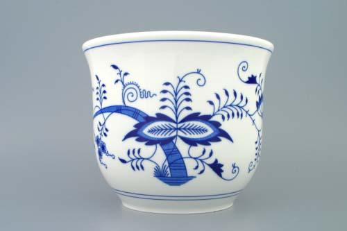 Cibulák kvetináč bez úch 22 cm cibulový porcelán, originálny cibulák Dubí 2. akosť