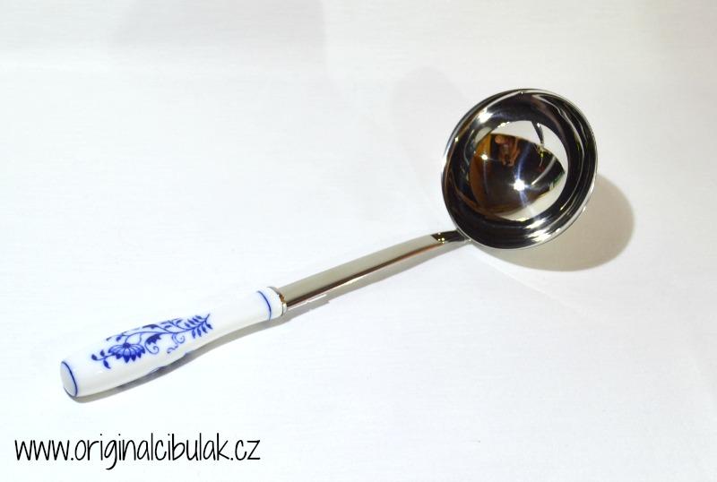 Cibulák naberačka veľká / balenie 1 ks kartón 29cm -originálny cibulák, porcelánová časť-Český porcelán a.s. Dubí, kovová časť - Toner a.s. 1.jakost