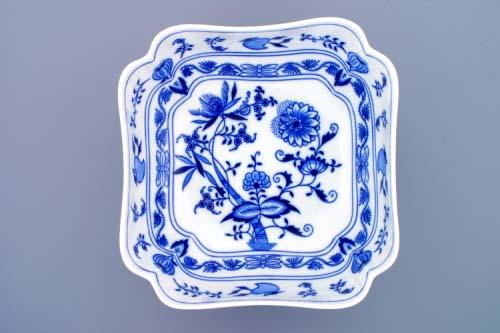 Cibulák mísa salátová štvorhranná vysoká 24 cm cibulový porcelán originálny cibulák porcelán dubi 1. akosť