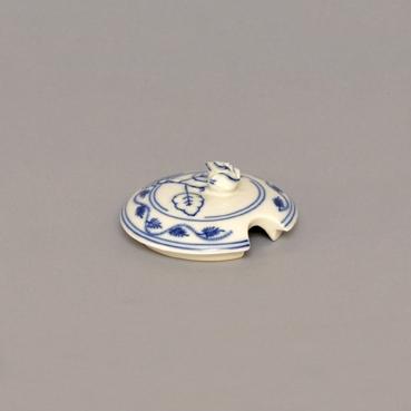 Viečko s výrezom na cukorničke 0,20 ml bez ušiek - kód 70526 - originálny cibulák, cibuľový porcelán Dubí 1.akosť