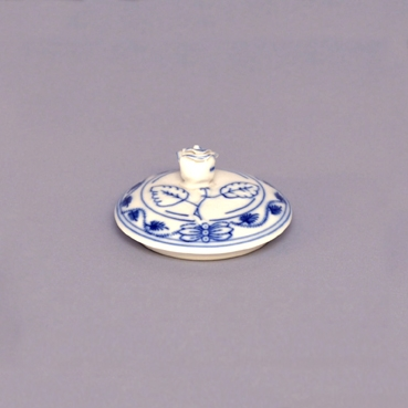 Viečko bez výrezu k cukorničke 0,20 ml bez ušiek - kód 70037 - originálny cibulák, cibuľový porcelán Dubí 1.akosť