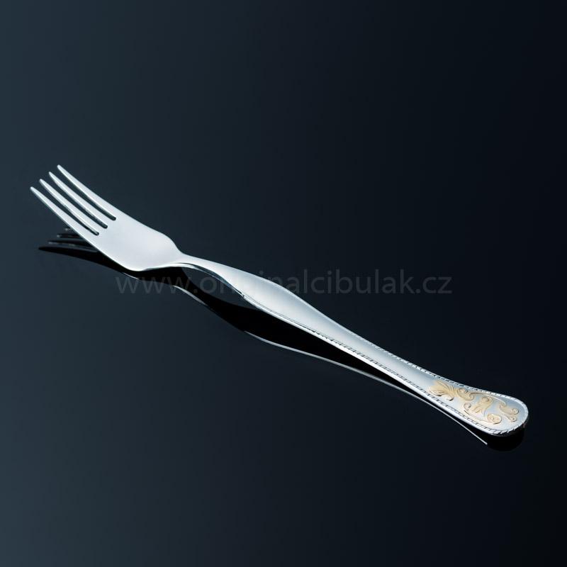 Vidlička jedálenská Baroko Gold 1 ks zlatená Toner nerez