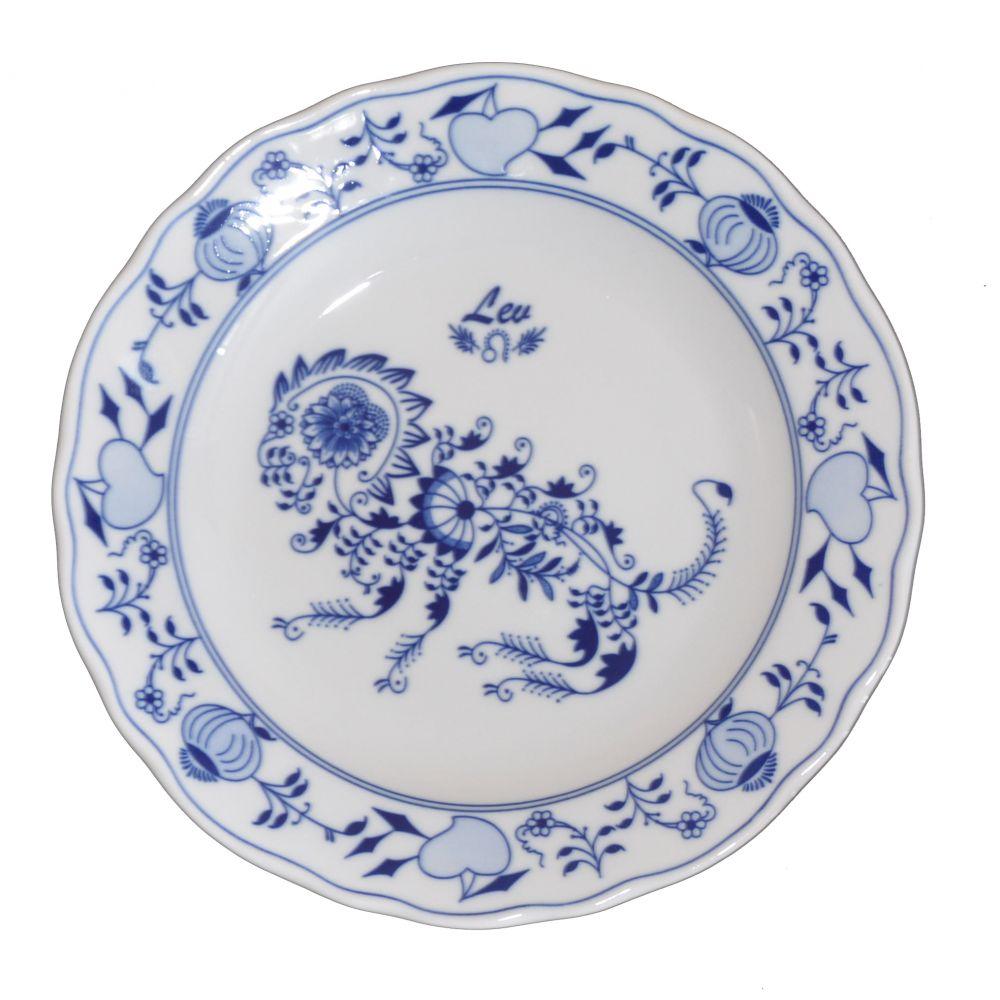 Cibulák tanier Lev zverokruh horoskop 24 cm cibulový porcelán, originálny cibulák Dubí 1. akosť