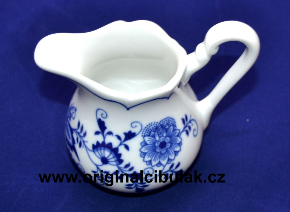 Cibulák mliekovka vysoká 0,16 l cibulový porcelán, originálny cibulák Dubí 2. akosť