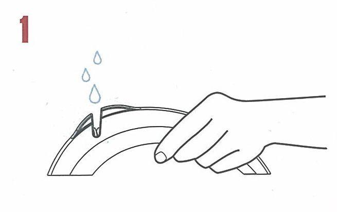 Brúska na nože Collini 18,5 cm biela