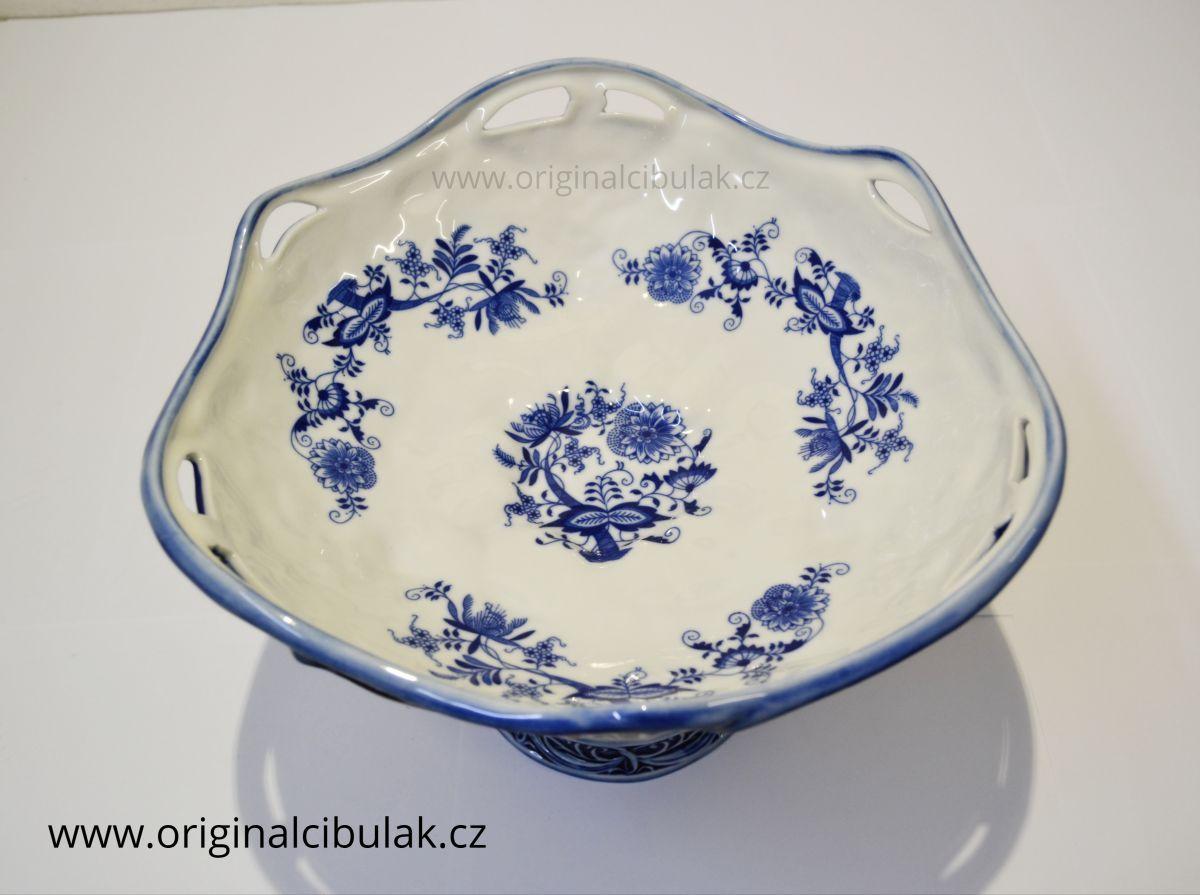 Cibulák Misa secesná na nohe 25 cm originálny cibulákový porcelán Dubí, cibuľový vzor