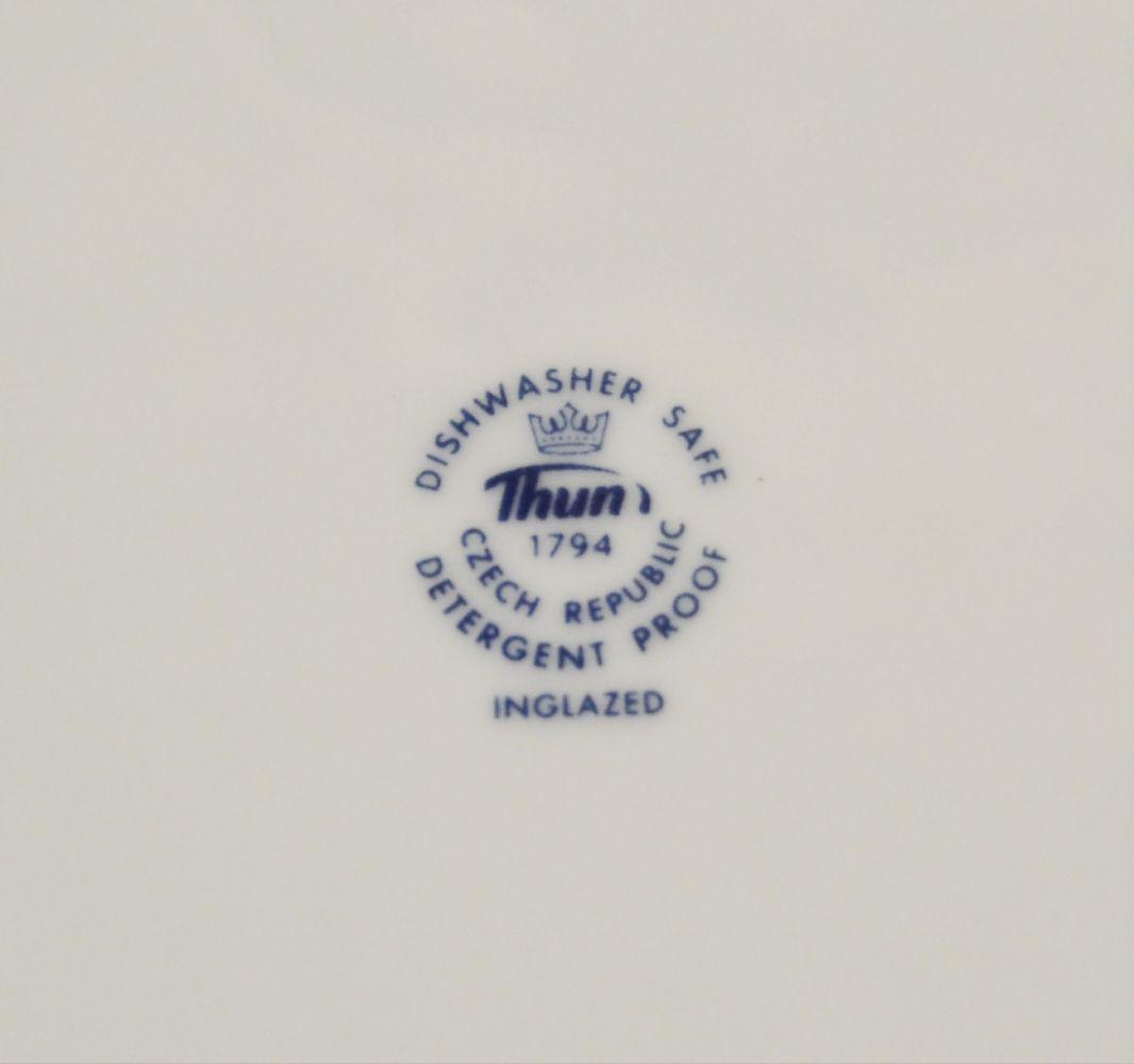 cibulák šálka a podšálka 135 ml Natalie Thun 23 cm 1 ks šálka + 1 ks podšálek cibulákový porcelán Nová Role