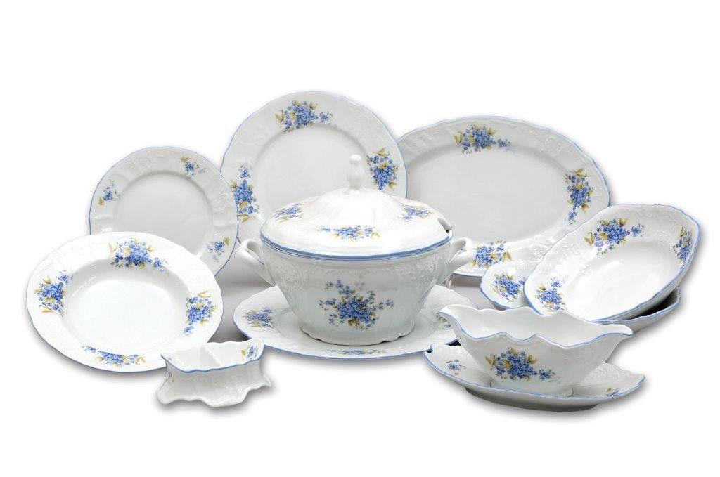 Tanier dezertný 19 cm Pomněnky Bernadotte porcelán Thun český porcelán Nová R