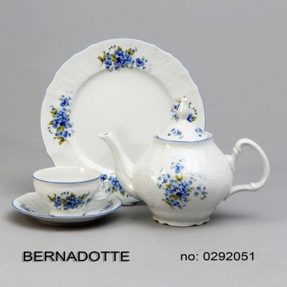 Tanier dezertný 19 cm Nezábudky Bernadotte porcelán Thun český porcelán Nová R