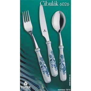 Cibulák súprava príbory 4 ks Toner nôž, vidlička, lyžica, lyžička