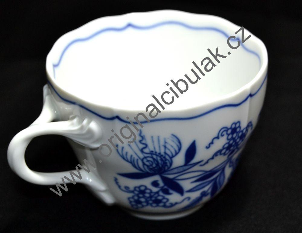 Cibulák šálka a podšálka B + B 0,20 l originálný porcelán Dubí 2.akosť