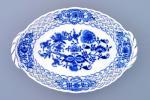 Cibulák košík prelamovaný 21 cm cibulový porcelán, originálny cibulák Dubí 1. akosť