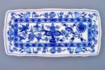 Cibulák podnos štvorhranný 33 x 16 cm cibulový porcelán, originálny cibulák Dubí 1. akosť