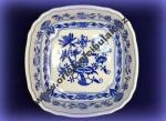 Cibulák misa šalátová štvorhranná talianska 19 cm, cibulový porcelán, originálny cibulák Dubí 1. akosť