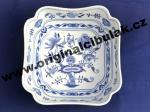 Cibulák misa šalátová štvorhranná vysoká 18 cm cibulový porcelán, originálny cibulák Dubí 1. akosť