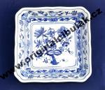 Cibulák misa šalátová štvorhranná 18 cm cibulový porcelán, originálny cibulák Dubí 1. akosť